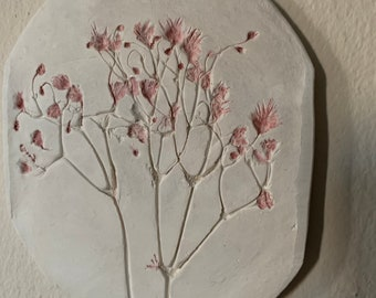 Pressed Flower Wall Hanging - Clay art
