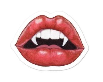 Vampire Pinup Lips Bubble-free sticker