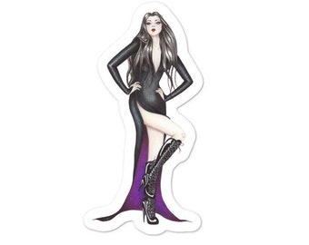 The Vamp Gothic Pinup  sticker Bubble-free