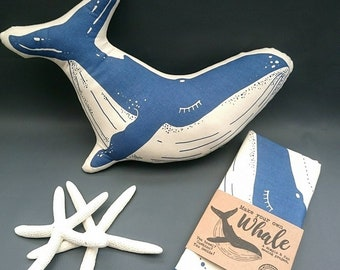 Craft Kit - Sew your own Whale cushion / Plushie / teatowel - Sewing kit - gift