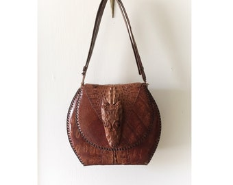 72954f9801bc Vintage Alligator Taxidermy Purse Handbag