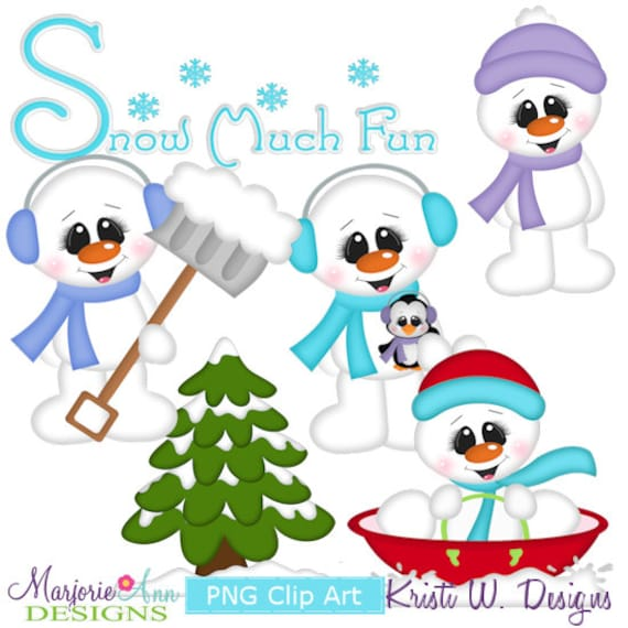 Frosty Fun Winter Scrapbooking Clipart Instant Download
