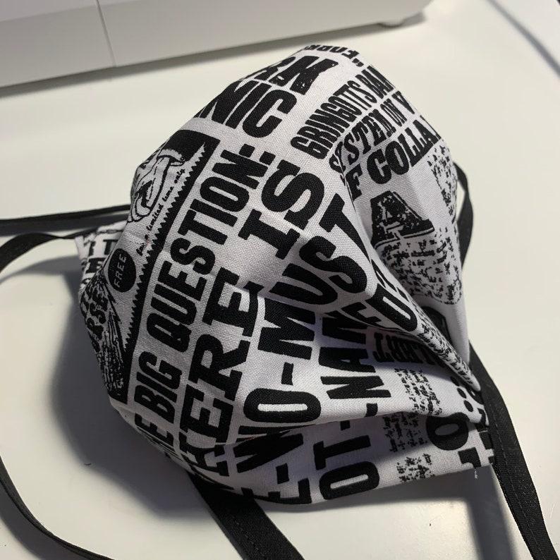 Face masks  Handmade Triple Layer 100% Cotton Fabric Harry Potter News