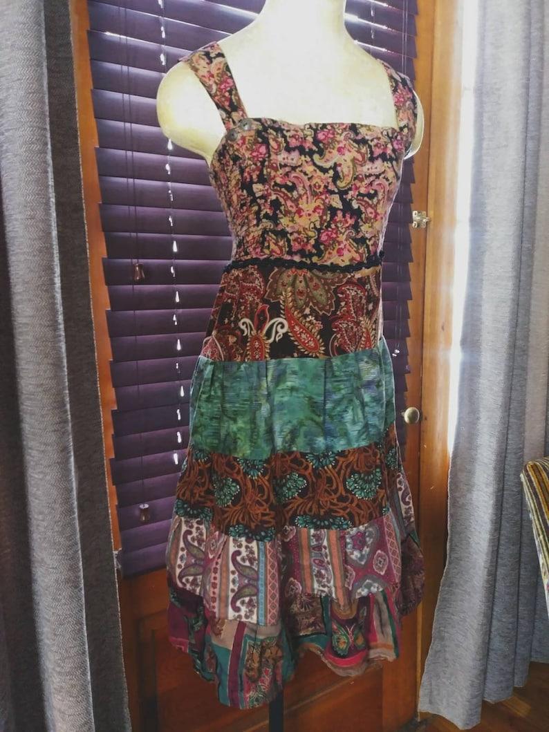 66ac33246c Beautiful boho sundress medium handmade upcycled recycled