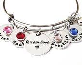 Nana Gift, Personalized Grandma Gift, Grandma Bracelet, Nana Bracelet, Birthstone Jewelry, Grandmother Gift, Grandma or Nana Gift