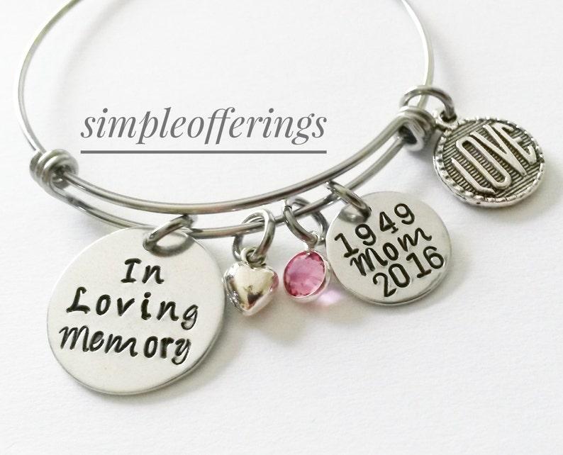 In Loving Memory Bracelet Sympathy Gift Memorial Bracelet image 0