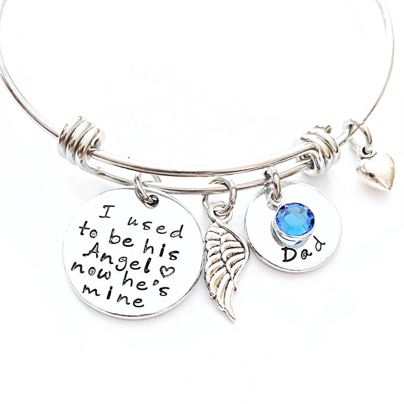 Memorial Bracelet I used to be his angel now he's mine image 0