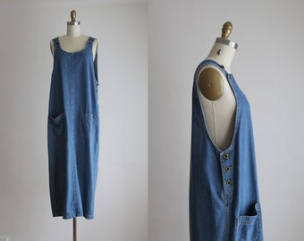 denim smock dress
