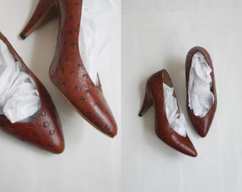1970s ostrich leather shoes