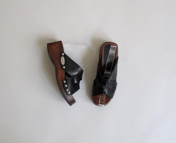 cuir & bois bois bois sandales taille 5 | Soldes  a06099