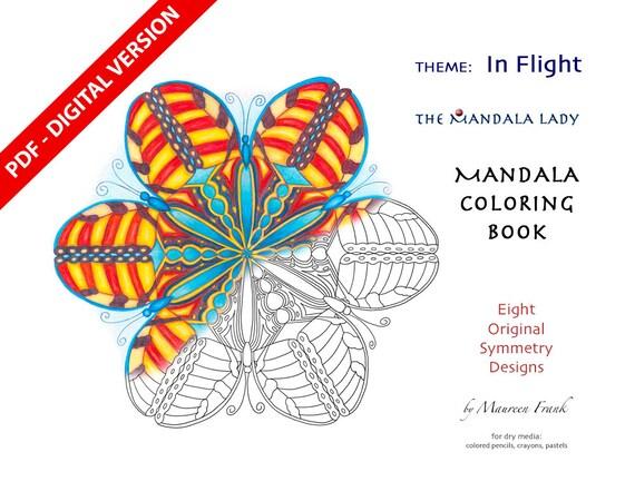 In Flight DIGITAL Mandala Coloring Book PDF VERSION