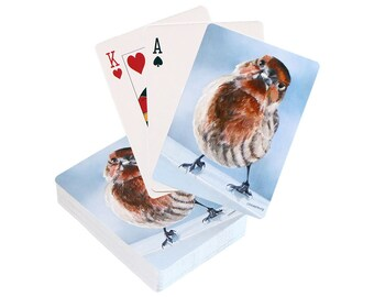 playing cards 9 different styles birds bird art wildlife nature games deck of cards