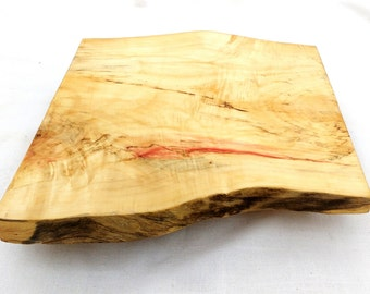 SALE!!! Live Edge Cake Stand, Rustic Wood Wedding Cake Stand, Salvaged Maple Rectangle Cake Stand, Boho Food Platter, Rustic Chacuterie