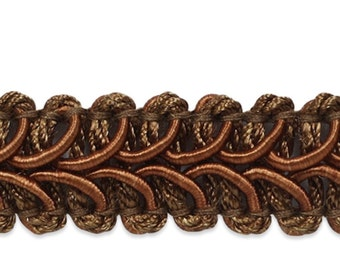 20-Yard Expo International Alice Classic Woven Braid Trim Brown