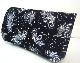 Coupon Organizer /Budget Organizer Holder  / Attaches To You Shopping Cart - Black with Elagant Swirls