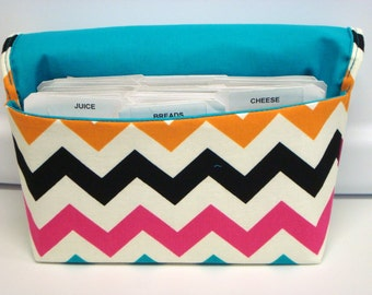 30% Off Coupon Organizer Cash Budget Organizer Holder- Attaches to your Shopping Cart - Zig Zag Chevron -Multi Color