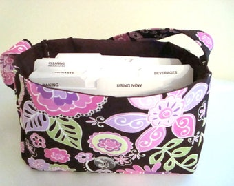 "Large 4"" Size Coupon Organizer Holder - Attaches to Your Cart-  BOHO  Blossom"