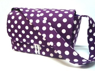 Coupon Organizer 4 inch Large Coupon Bag , Budget Organizer Holder  Purple with White Dots