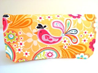 Coupon Organizer  Budget Organizer Holder- Attaches To Your Shopping Cart -  Paisley Birds