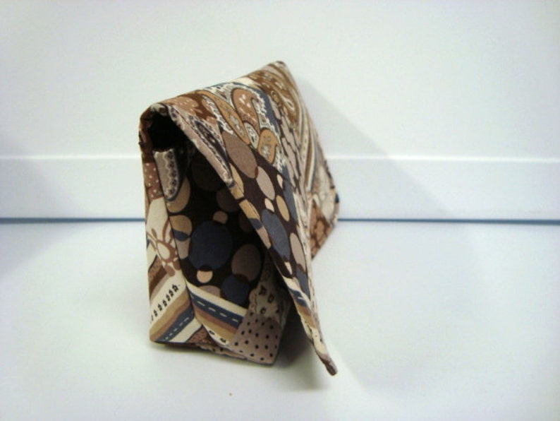 Quilt Patch Brown Attaches to Your Shopping Cart Coupon Organizer Budget Organizer Holder