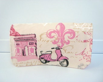10% OFF Coupon Organizer / Budget Organizer Holder  - Attaches to Your Shopping Cart - Paris Fleur-de-lis -  Scooter