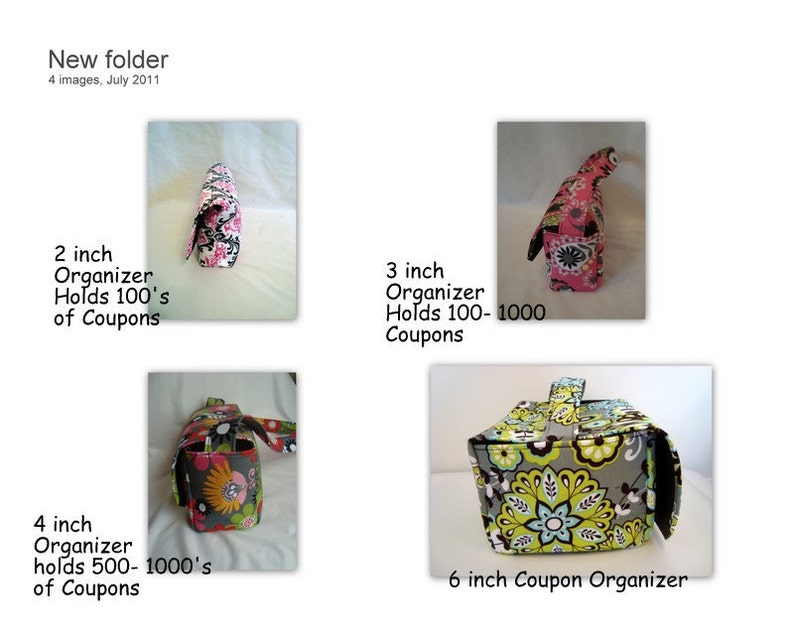 Super Large 6 inch Depth Fabric Coupon Organizer Choose Your Fabric