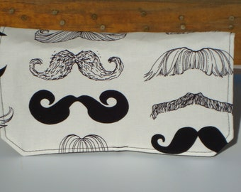 Coupon Organizer Cash Budget Organizer Holder- Attaches to your Shopping Cart  - Mustache