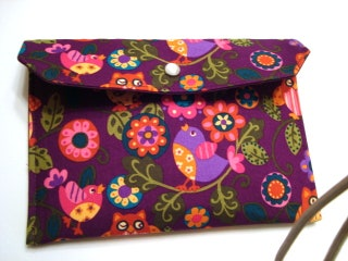 Cash Envelope Budget Clutch Use for the Dave Ramsey System or Coupon Organizer - Owls On Plum