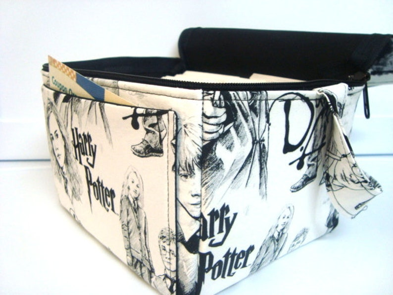 Super Large 6 inch Depth Fabric Coupon Organizer With ZIPPER CLOSER  Herry Potter