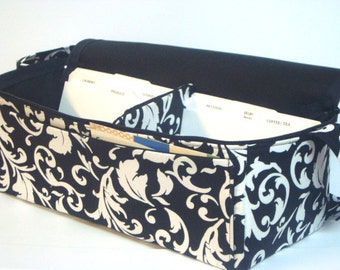 Super Large 6 inch Depth Double Wide Fabric Coupon Organizer - With ZIPPER CLOSER  Pick Your Fabric!