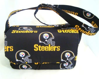 "Large 4"" Size Fabric Coupon Organizer  Box / Holder- Attaches to your Shopping Cart- Pittsburgh Steelers Or any NFL"
