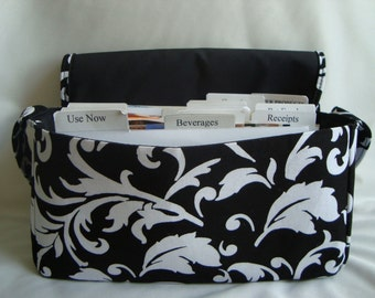 Medium Size Coupon Organizer /Budget Organizer Holder- Attaches to Your Shopping Cart - Choose Your Chevron Fabric - Zig Zag