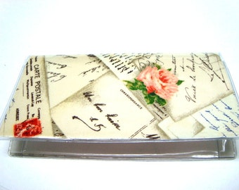 Checkbook Cover / Checkbook Holder -Post Card From Paris