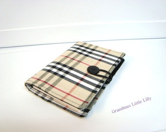 Honey Do List, Grocery List Taker Card Holder Comes with Note Pad and Pen  Black,Tan,Red Plaid