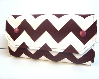 Cash Envelope Budget Wallet Dave Ramsey System Cash Wallet Systme / Zipper Envelopes  Burgundy Chevron