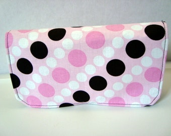 40% Off Coupon Organizer /Budget Organizer Holder - Attaches to Your Shopping Cart -Pink ,White Black Dots SALE
