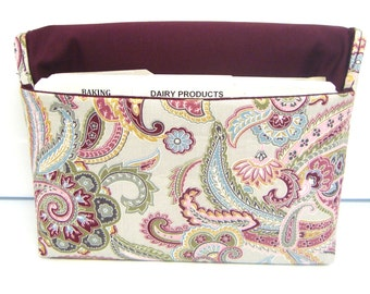 Coupon Organizer Cash Budget Organizer Holder- Attaches to your Shopping Cart - Buttercream  Paisley