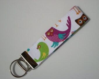 Wristlet Key Fob / Key Chain - Love Birds