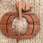 Custom Order for Michelle. Wooden Pumpkin Shawl Pin, Oak