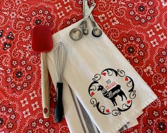 **FA LA LA LLAMA** Holiday Hand Dish or Tea Towel Set of 2 Social Dist xmas sale