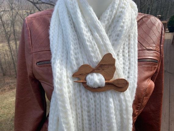 Hair pin Scarf pin Turtle wooden shawl pin