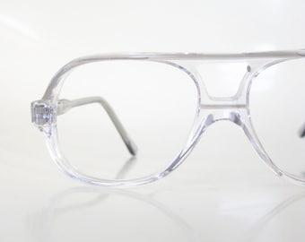 d60459b060 1980s Children s Aviator Glasses - Boy s Aviator Glasses - Kids Optical  Frames - Clear Vintage Eyeglasses - Clear Acetate Frames