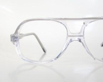 46898107067 1980s Children s Aviator Glasses - Boy s Aviator Glasses - Kids Optical  Frames - Clear Vintage Eyeglasses - Clear Acetate Frames