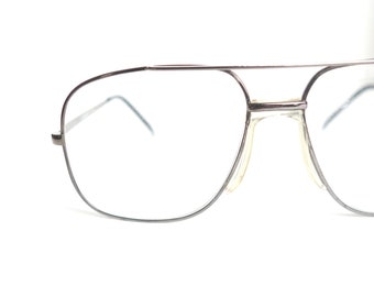 62e854b8c9 1980s Bronze Metallic Aviator Glasses – Mens Aviator Eyeglass Frames – Mens  Metallic Avaitor Vintage Eyeglasses – Mens Vintage Glasses