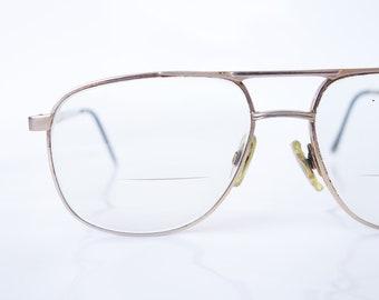 36a06883b5b5 1980s Gold Wire Frame Aviator Glasses – Mens Metal Avaitor Eyeglas Frames –  Mens Retro Gold Glasses – Mens 80s Vintage Aviators