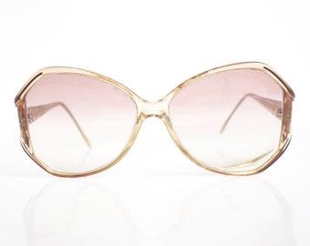 907fe011bd53 1970s Oversized Vintage Eyeglasses – Vintage Clear Womens Glasses – 70s  Huge Over Sized Eyeglass Frames –Seventies Authentic Vintage Optical