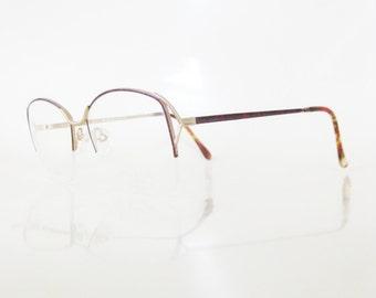 f0786e941f5 1980s Oversized Avant Garde Glasses - NOS Oversize Sunglasses - Cranberry  Red Wire Frame Glasses - Vintage Fake Glasses - Huge Geek Chic