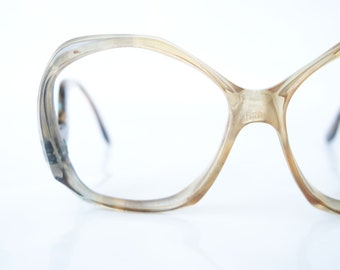 c4cc2527ef1e Avant Garde Vintage Optical Frames – 1980s New Wave Sidewinder Womens  Eyeglasses – Oleg Cassini Designer Retro Glasses