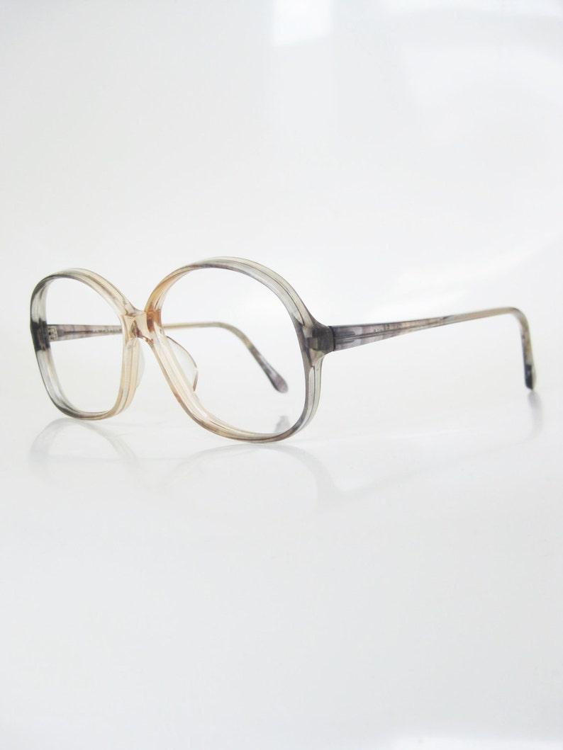 92d78f85981 1970s Oversized Womens Glasses Clear Retro Eyeglasses