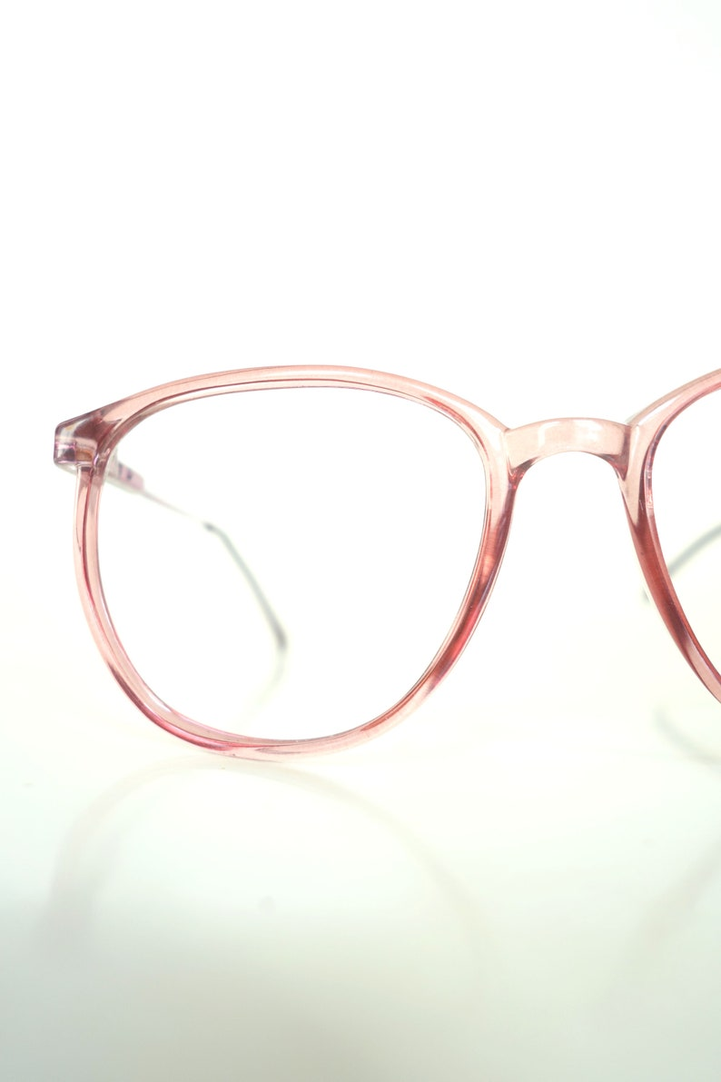 26297dc8da 1980s Clear Light Red Glasses Womens Italian Red Vintage
